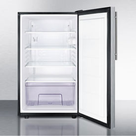 Stainless Steel Door Refrigerator - 4.1 Cubic Ft, V21618