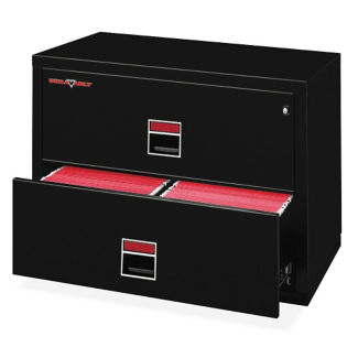 "Two Drawer Fireproof Lateral File - 38""W, L40054"
