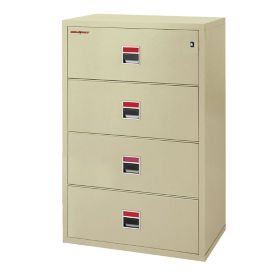 "Four Drawer Fireproof Lateral File - 38""W, L40055"