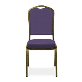 Solid Fabric Crown Stack Chair, C60049