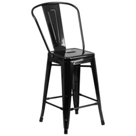 "Metal Bar Stool - 24""H, K10084"