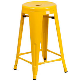 Backless Metal Cafe Stool, K10094