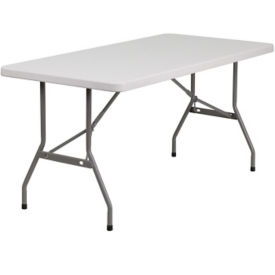 "Plastic Folding Table - 30"" x 60"", T10405"