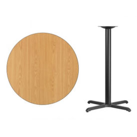 "Laminate Table with Metal Base - 36""DIA, T11798"