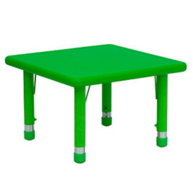 "Child Height Square Activity Table - 14.50"" - 23.75""H, T11827"