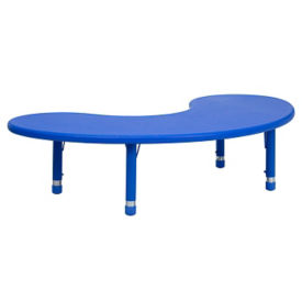 "Child Height Kidney Shaped Activity Table - 14.50"" - 23.75""H, T11828"