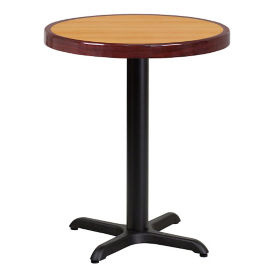 "24"" Round Standard Height Table with Round Base, T11834"