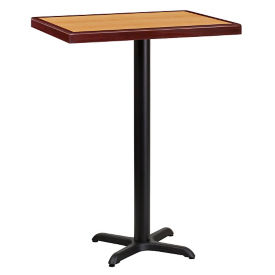 "Bar Height Table with X-Base 30""W x 24""D, T11838"