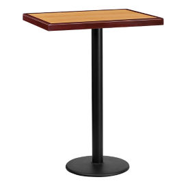 "Bar Height Table with Round Base - 30""W x 24""D, T11839"