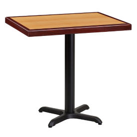 "30"" Square Standard Height Table with X Base , T11840"