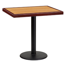 "30"" Square Standard Height Table with Round Base, T11841"