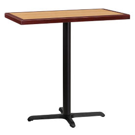 "42"" Rectangle Bar Height Table with X-Base, T11842"