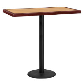 "42"" Rectangle Bar Height Table with Round Base, T11843"
