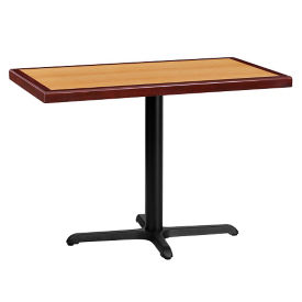 "42"" Rectangle Standard Height Table with X-base , T11844"