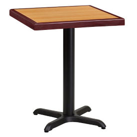 "24"" Square Standard Height Table with X-Base, T11846"
