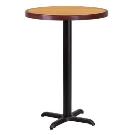 "30"" Round Bar Height Table with X Base, T11848"