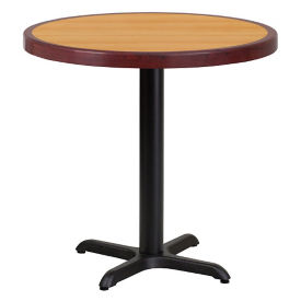 "30"" Round Standard Height Table with X-Base, T11850"