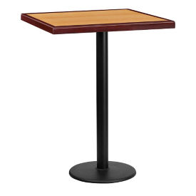 "30"" Square Bar Height Table with Round Base, T11853"