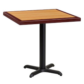 "30"" Square Standard Height Table with X-Base, T11854"