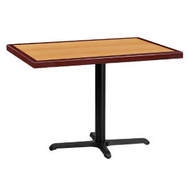 "42"" x 30"" Rectangular Standard Height Table with X-Base, T11858"