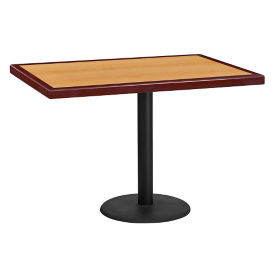 "42"" x 30"" Square Standard Height Table with Round Base, T11859"