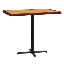 "48"" x 30"" Bar Height Rectangular Table with X Base, T11860"
