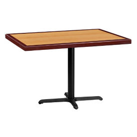 "48"" x 30"" Standard Height Rectangular Table with X Base, T11862"