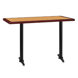 "60"" x 30"" Bar Height Table with T Base, T11864"