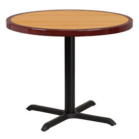 "36"" Round Standard Height Table with X Base, T11870"