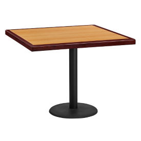 "36"" Square Standard Height Table with Round Base, T11872"