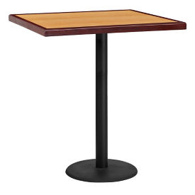 "36"" Square Bar Height Table with Round Base, T11873"