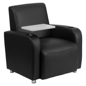 Faux Leather Club Chair with Tablet, W60031