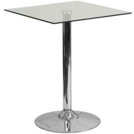 "Square Glass Table - 23.75""W x 30""H, T10156"