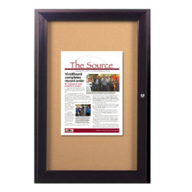 "Indoor Bronze Toned Bulletin Board 24""x36"", B20530"