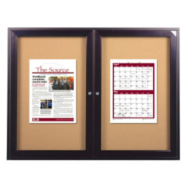"Indoor Bronze Tone Bulletin Board 60""x48"", B20535"