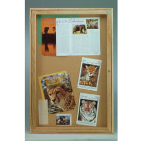 "Indoor Oak Bulletin Board 18""x24"", B20539"