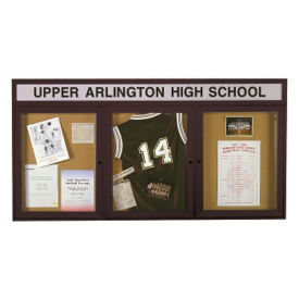"Outdoor Bulletin Board with Header 72""W x 36""H, B20767"