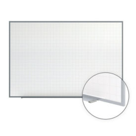 "Phantom Magnetic Whiteboard with Grid Lines - 8' x 4"", B23272"