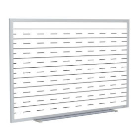 Whiteboard with Penmanship Lines and Blade Type Tray - 8' x 4', B23278