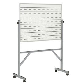 Reversible Whiteboard with Penmanship Lines and Box Tray - 3' x 4', B23286