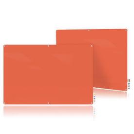 Magnetic Radius Corner Glass Board - 6' W x 4' H, B23396
