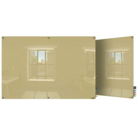 Magnetic Square Corner Glass Board - 6' W x 4' H, B23401