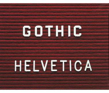 "Gothic Letterset 1-1/2"" Size, V20777"