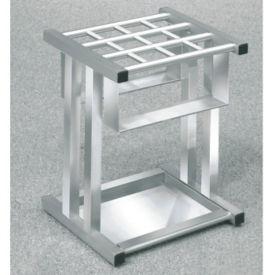 """Satin Aluminum 12 Slot Umbrella Stand- 18""""H, V20035"""