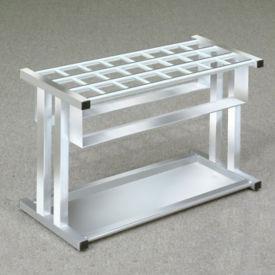 """Satin Aluminum 24 Slot Umbrella Stand- 18""""H, V20037"""