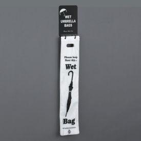 Wall Hanging Wet Umbrella Bag Holder With Sign Holder, V20043