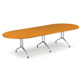 "Racetrack Conference Table with Sculpted Steel Base - 120"" x 48"", C90335"