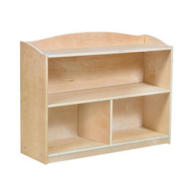 "Three Shelf Bookshelf with Optional Divider - 28""H, B34575"