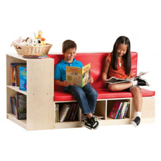"Reading Bench with Library Storage - 32"" x 48"", B34585"