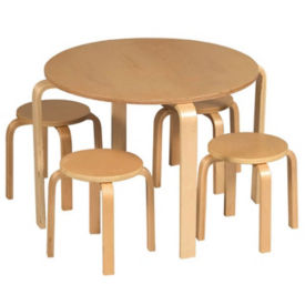 Nordic Natural Table with 4 Stools, P30131